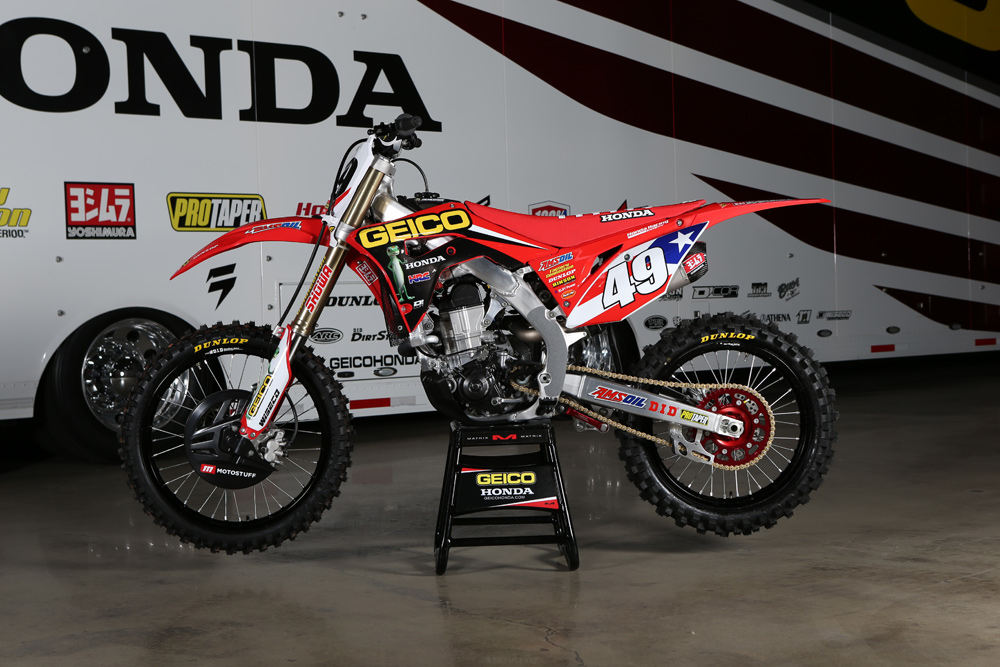 Kevin Windham's Motocross des Nations Race Bike