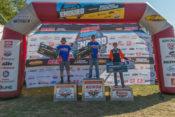 Stewart Baylor (center) won the Loose Moose National Enduro in Pennsylvania.