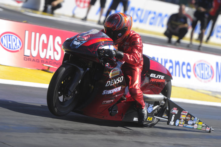 Matt Smith won the NHRA round in Madison, Illinois.