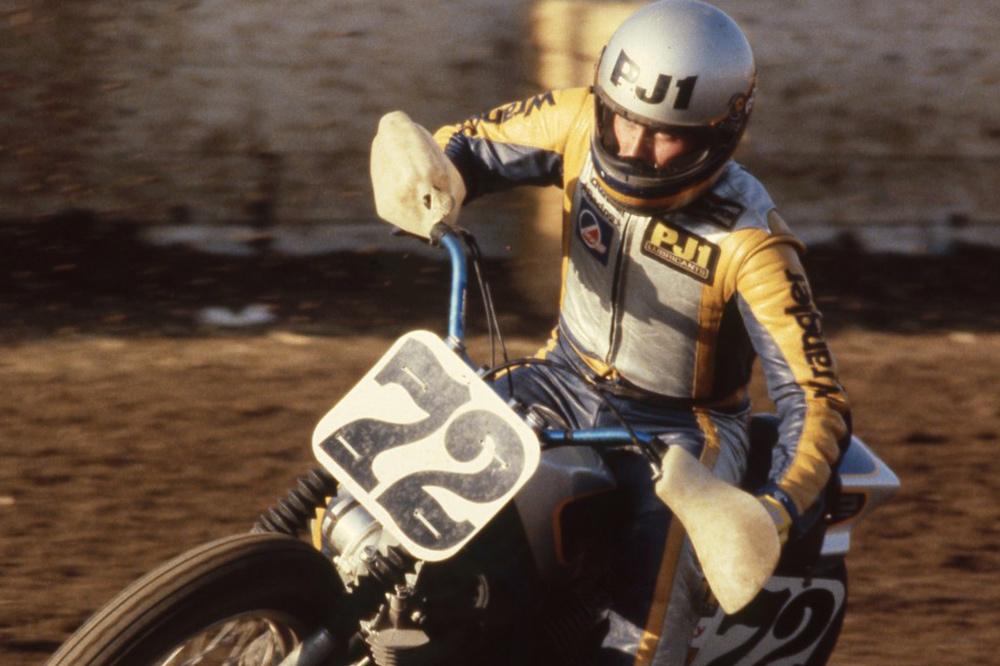 Mike Kidd on Yamaha's XV750.