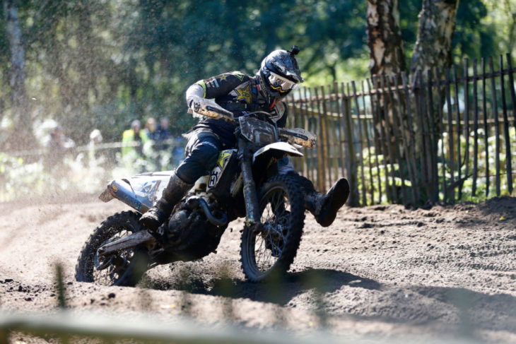 Rockstar Energy Husqvarna Factory Racing's Billy Bolt Finishes Third at Hawkstone Park Cross-Country in Great Britain