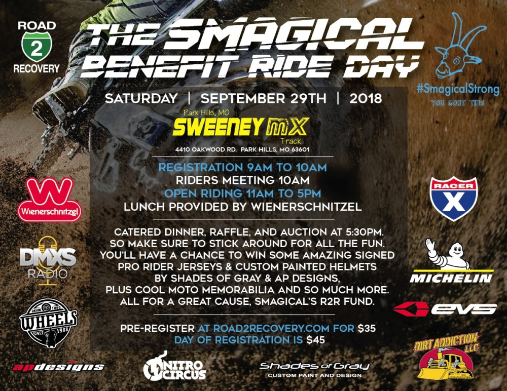 Smagical Benefit Ride Day at Sweeney's MX Playground