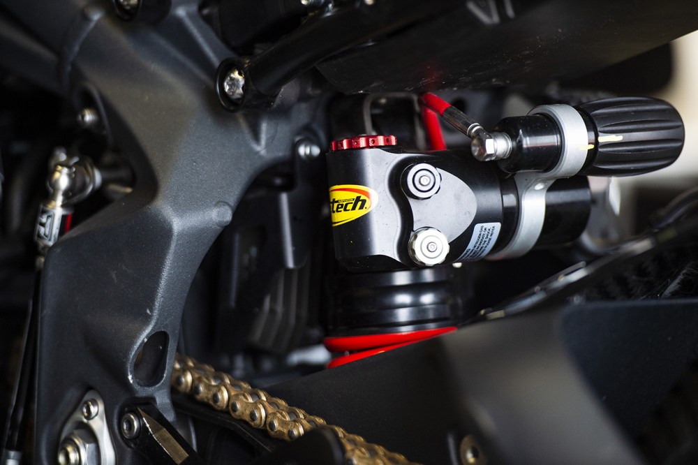 More K-Tech goodness with their specially developed shock.