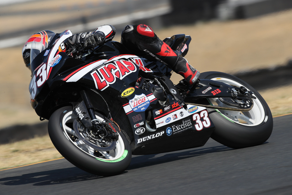 MotoAmerica Superbike privateer Kyle Wyman is one of the leading U.S. riders on Dymags.