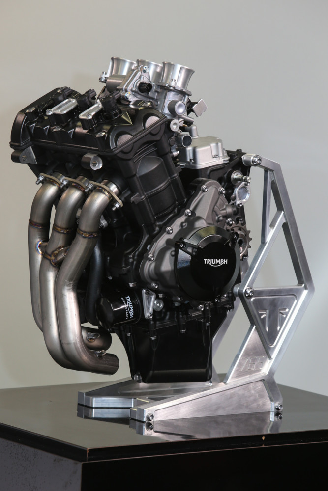 The compression has been raised to 14:1 from 12.65:1 on the stock RS by skimming the head, with a lighter, low output race alternator used to reduce inertia.