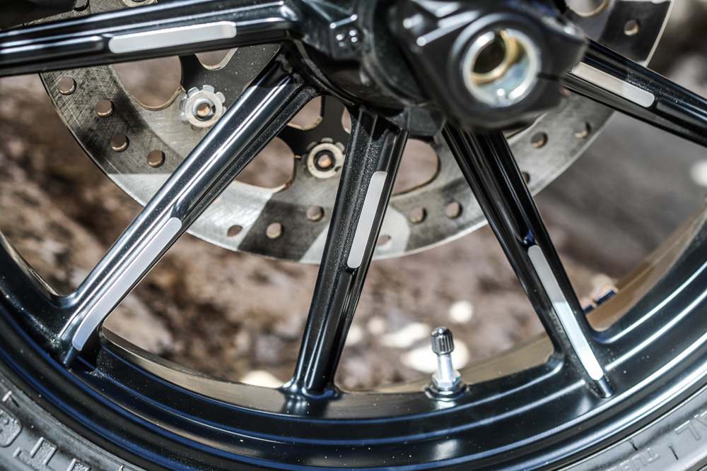 The spokes now have a machined surface compared to the solid surface of the 2018 wheels.