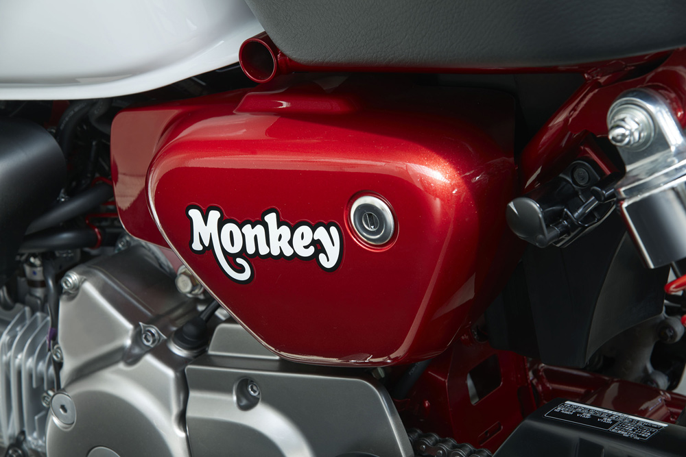Just that font alone hints at the kind of fun you'll have on a Monkey Bike.