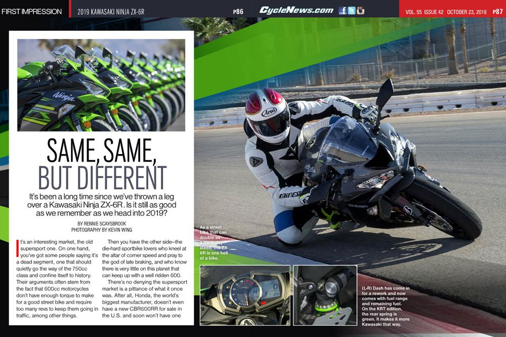 | It's been a long time since we've thrown a leg over a Kawasaki ZX-6R. Is it still as good as we remember as we head into 2019?