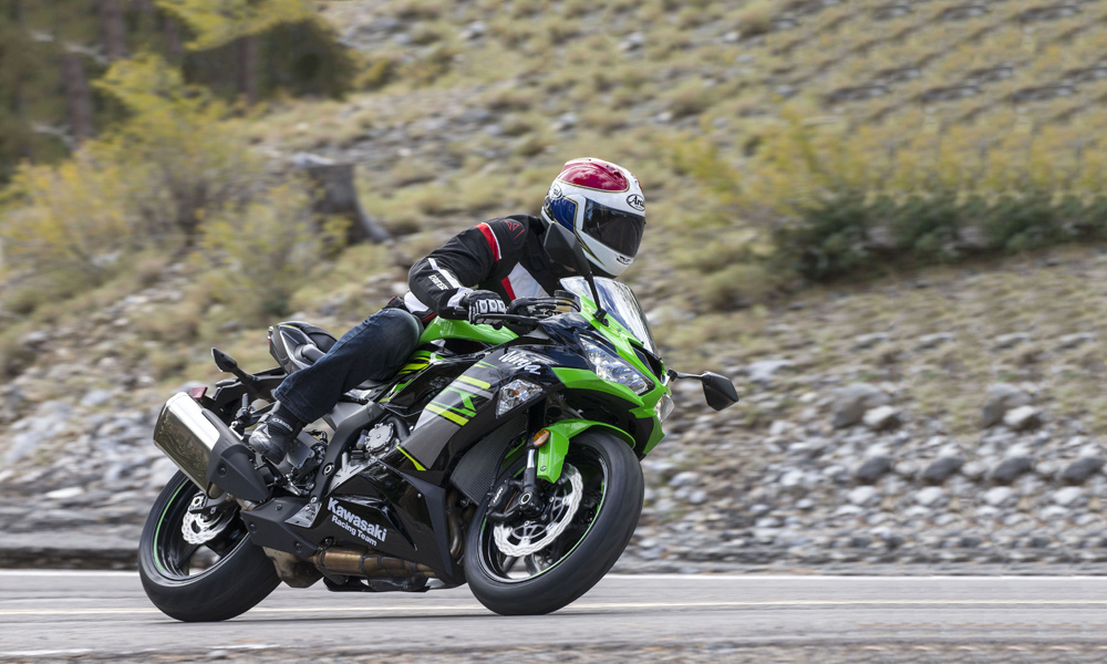 The Showa suspension on the road is excellent, offering great bump absorption and rider comfort.