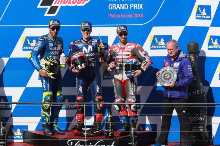 Iannone, Vinales, Dovizioso, Australian MotoGP 2018