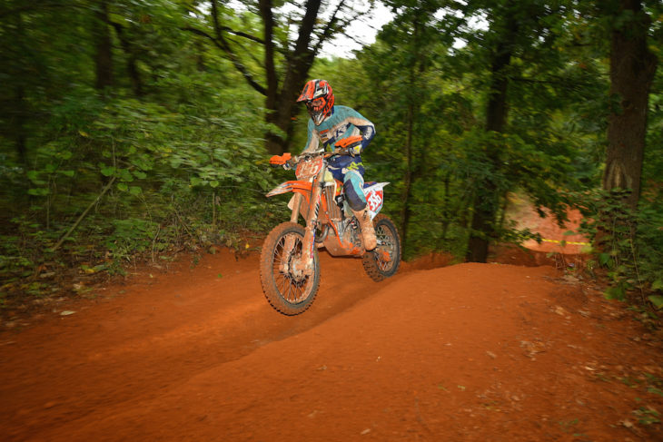 Dante-Oliveira won the AMA East-West Hare Scrambles in Oklahoma.
