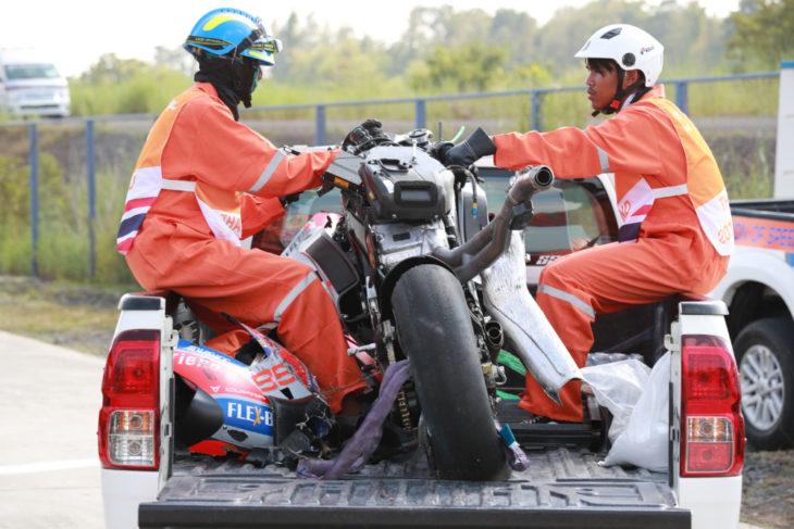 Lorenzo's crashed Ducati, Thailand MotoGP 2018