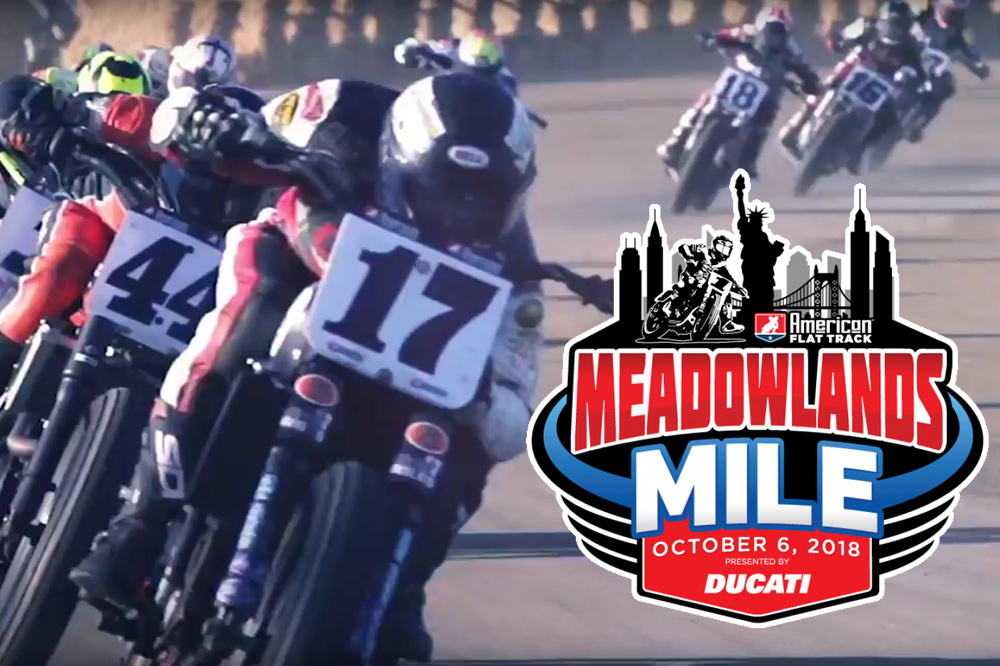 Ducati Presenting Partner of 2018 American Flat Track Meadowlands Mile
