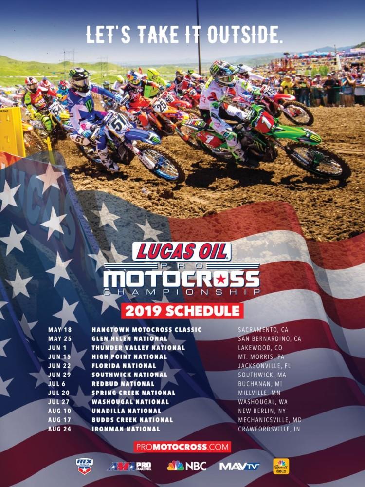 Mxgp Calendario 2020.2019 Lucas Oil Pro Motocross Championship Schedule Announced