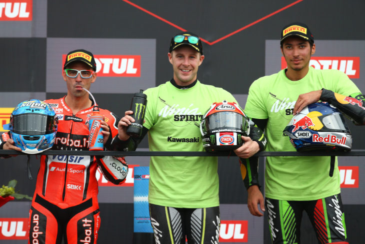 Melandri, Jonathan Rea and Razgatlioglu, WSBK Race1, Argentinian WSBK 2018