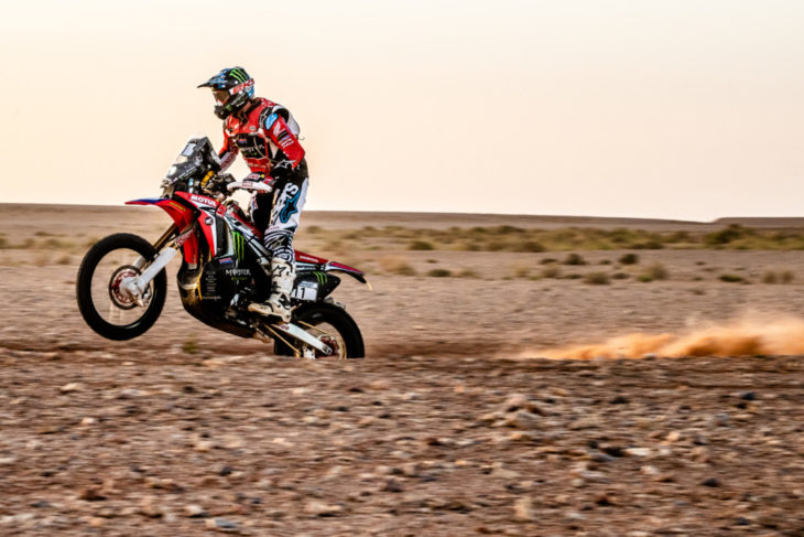 Ricky Brabec won the final stage at the Morocco Rally 2018.