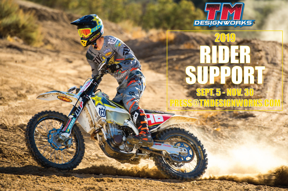 TM Designworks Rider Support Now Open