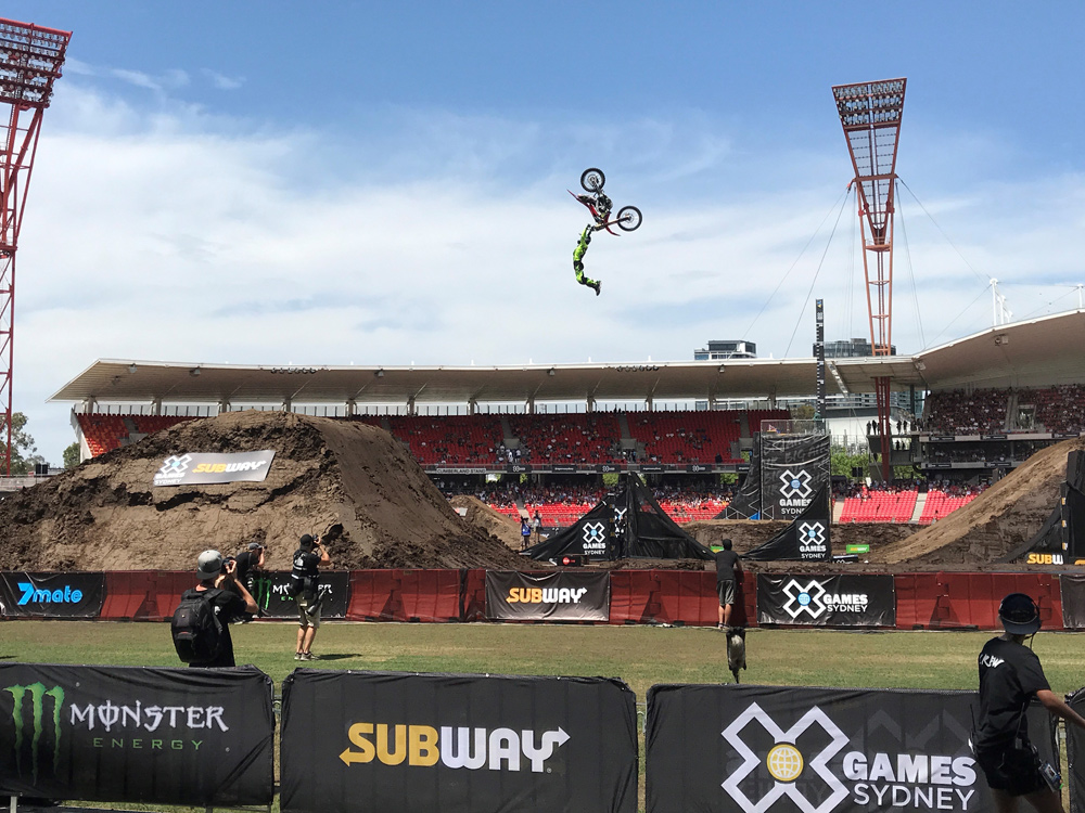 """<strong><figcaption>In Best Whip, Jarryd McNeil completely turns his bike upside down.</strong>"""" width=""""1000″ height=""""750″ class="""""""" /></a> In Best Whip, Jarryd McNeil completely turns his bike upside down.</figcaption></figure> <p>In Best Whip, Jarryd McNeil saved his best run for last and once again proved he's the king of whips by completely turning his bike upside down. The whip earned him a gold-medal finish and bumped his total number of X Games medals up to 12. </p> <p>Now the boys get to enjoy a few weeks off and polish their medals before they head to Europe in November for the next leg of Nitro Circus' """"You Got This"""" tour. To learn more about where Nitro Circus is performing, head to <a href="""