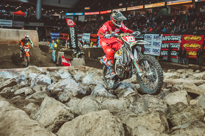 Colton Haaker won the Everett EnduroCross for the first time