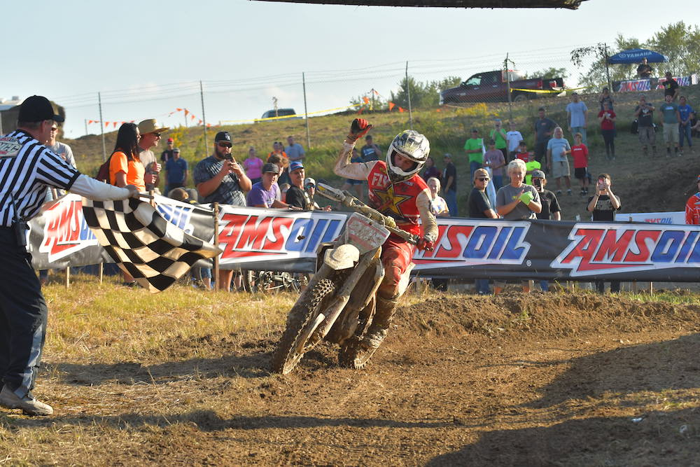 Thad Duvall wins the Mason-Dixon GNCC in Mt. Morris, Pennsylvania.