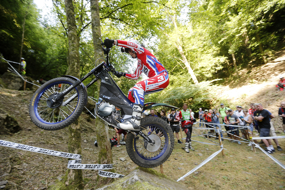 The TY-E, ridden by Kenichi Kuroyama, recently competed in the 2018 Trial-E World Cup round in France and came away with the win. It also had good success in Belgium where this photo was taken.