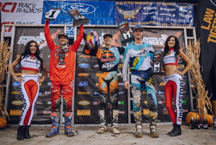 2018 Boise EnduroCross podium.