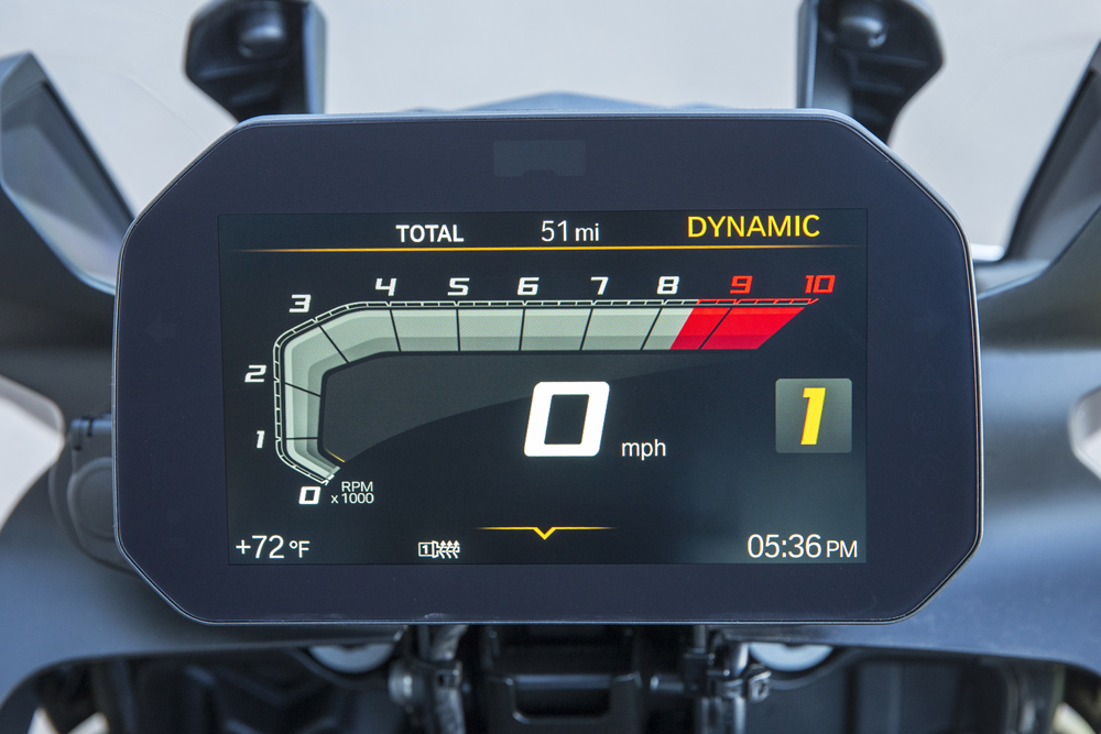 The new dash is superb and offers an absolute plethora of options for the rider.