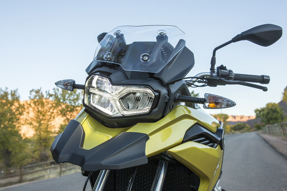 LED headlight and taillight abounds with the 750.