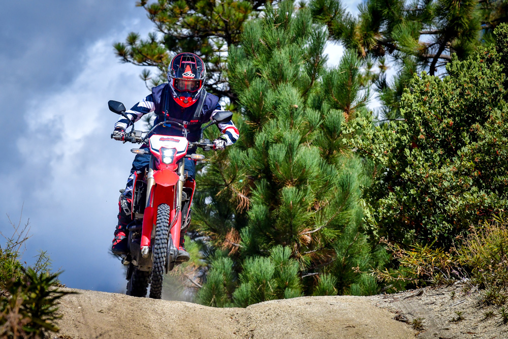 When it comes to fire roads and two-track trails, the Honda really shines.