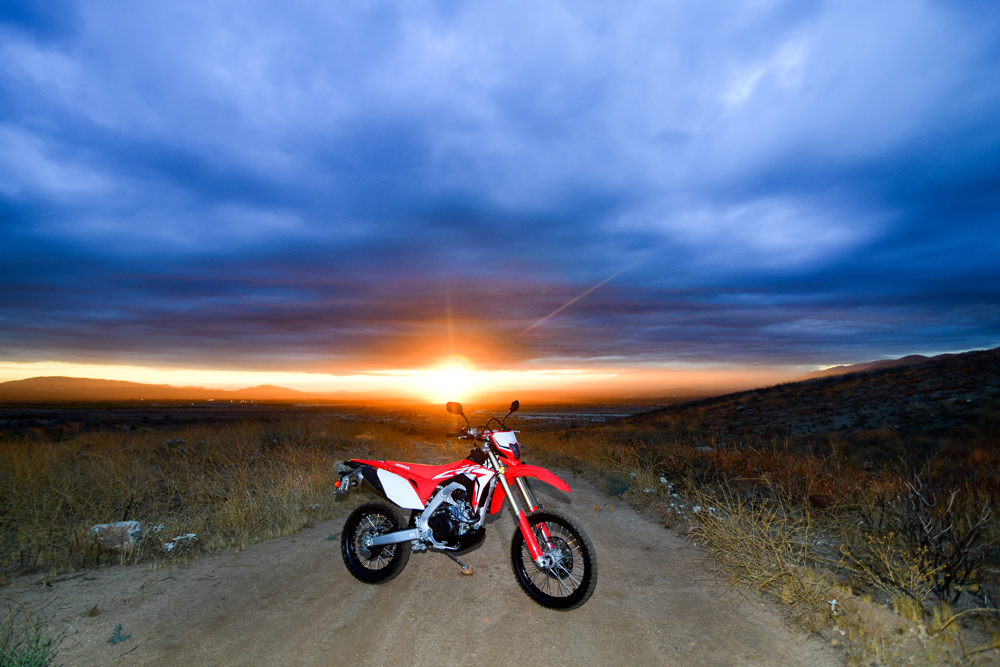 The CRF450L gives us another great option to get out and enjoy days on the dirt like these.
