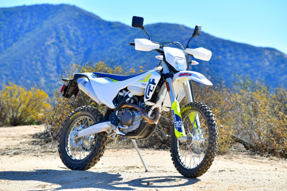 The Husqvarna just might be the prettiest dual sport bike on the trail.