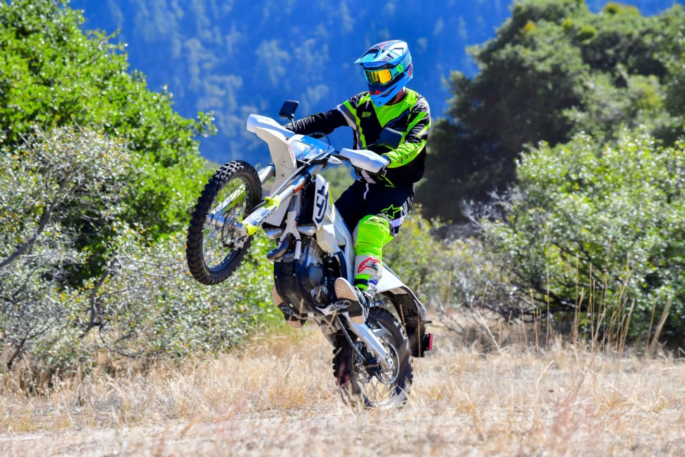 There isn't much not to like about the Husqvarna FE450. It's light enough for extracurricular activities, such as this.