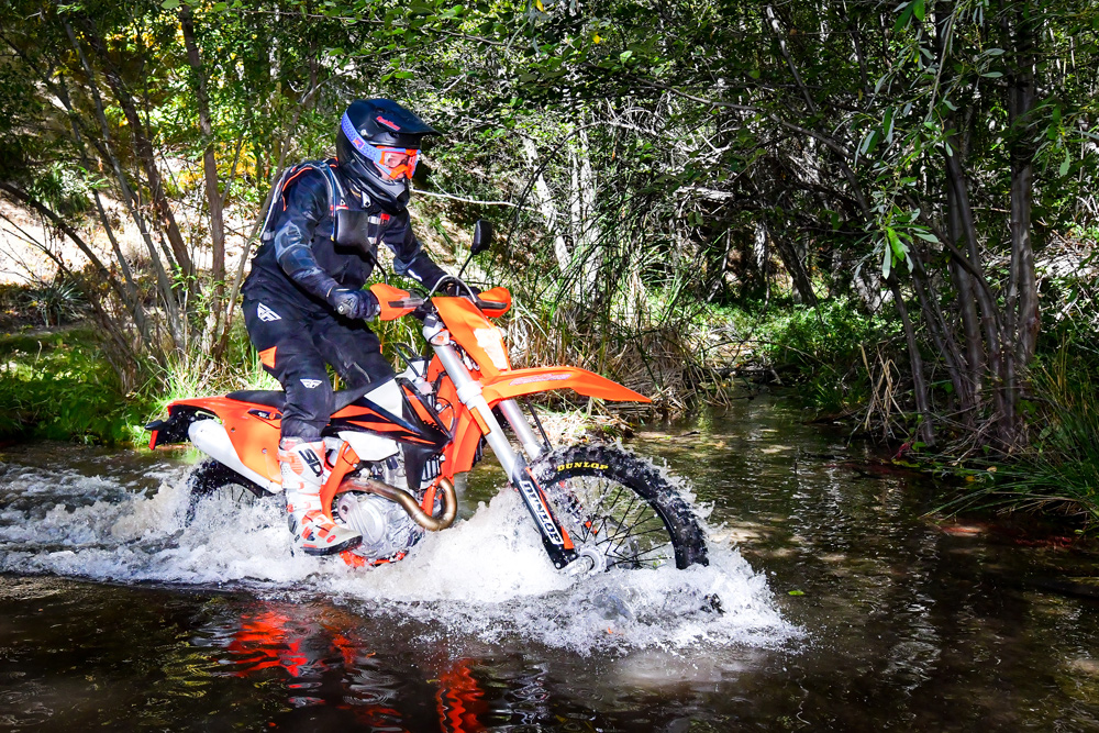The KTM has been the dual-sport bike by which all others are compared for quite some time now, and probably still is. It's a fun bike on all types of dirt roads and trails, and can be ridden aggressively or casually with equal amounts of fun.