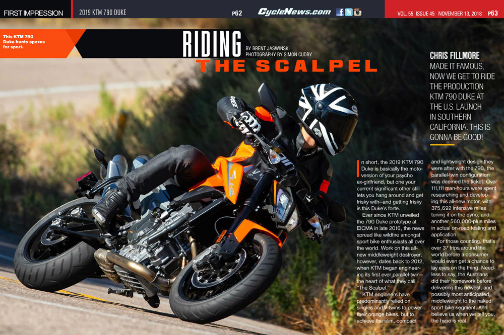 Chris Fillmore made it famous, now we get to ride the production KTM 790 Duke at the U.S. launch in Southern California. This is gonna be good!