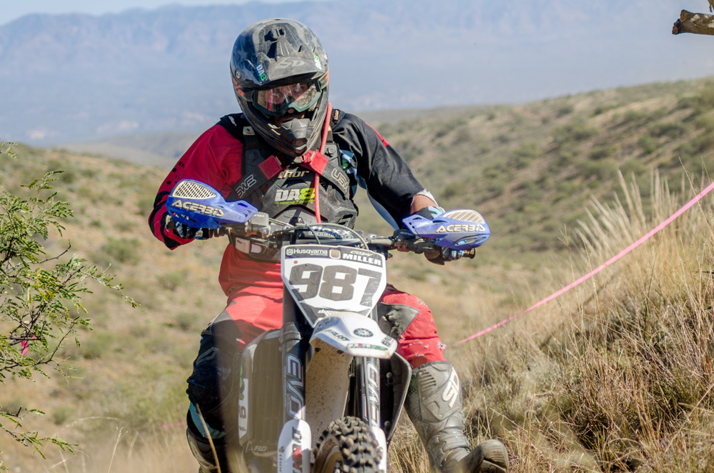 Cody Miller pushes his Husqvarna toward a fourth-place finish in the AA class.