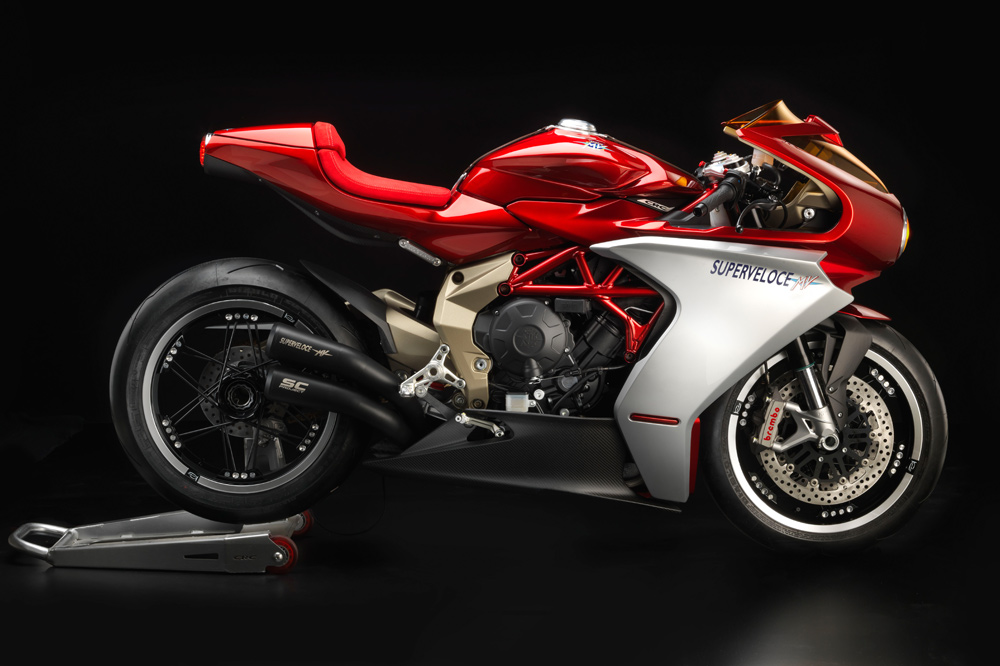 Motorcycle art took on a new level at EICMA with the MV Agusta Superveloce 800.