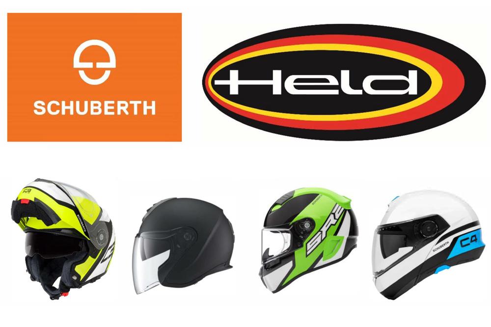 Schuberth Helmets and Held Biker Apparel