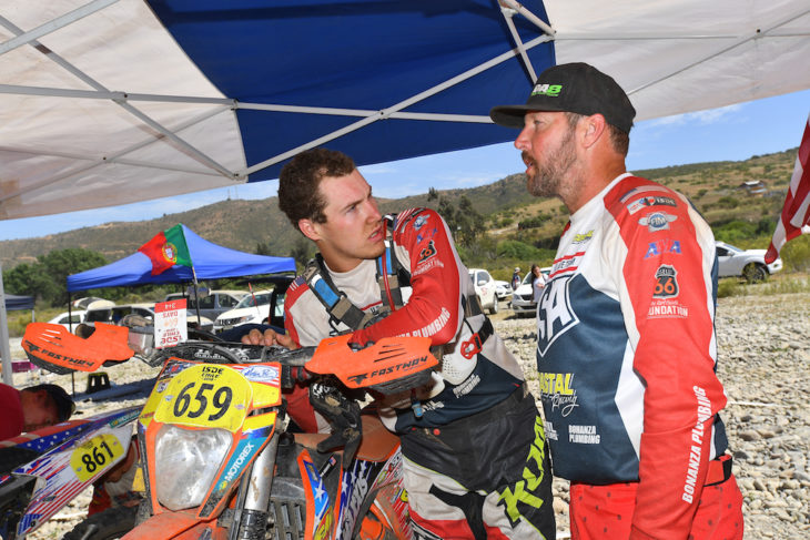 Cooper and Destry Abbott at the ISDE in Chile.