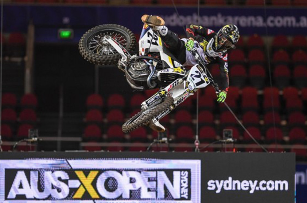 Jason Anderson won the 2018 AUS-X Open in Sydney.