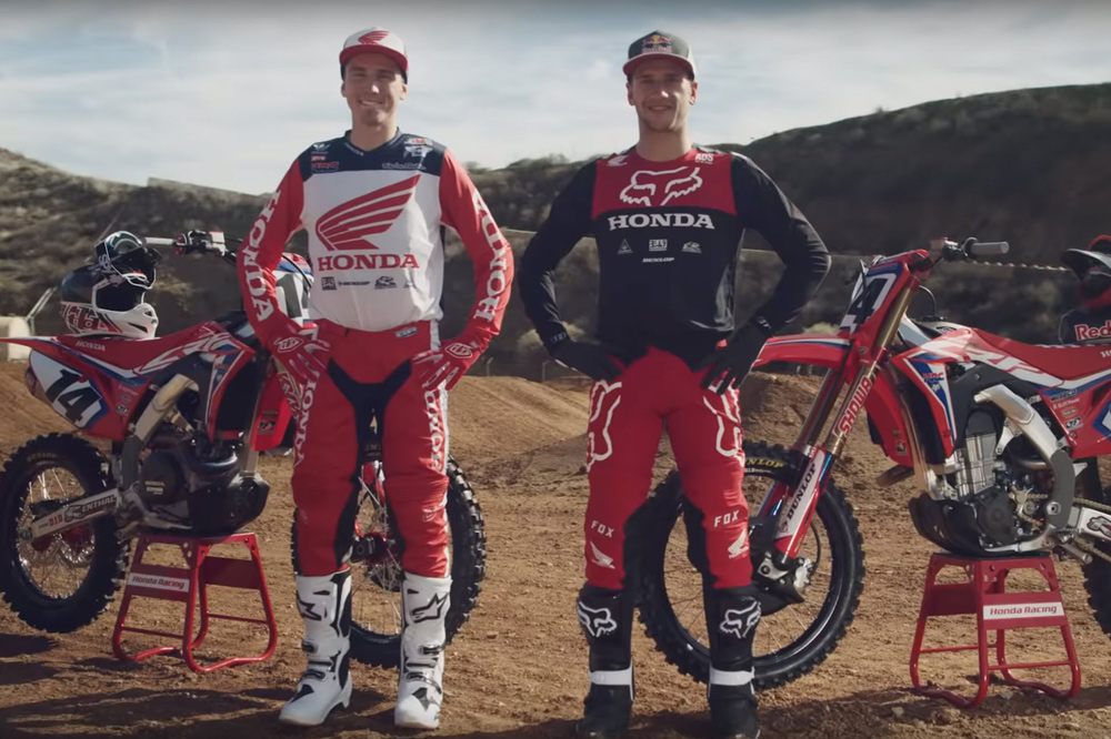 Armed with the CRF450R, Ken Roczen and Cole Seely represent Team Honda HRC for the 2019 season.