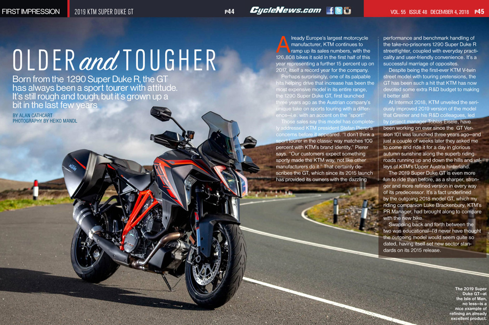 Born from the 1290 Super Duke R, the GT has always been a sport tourer with attitude. It's still rough and tough, but it's grown up a bit in the last few years