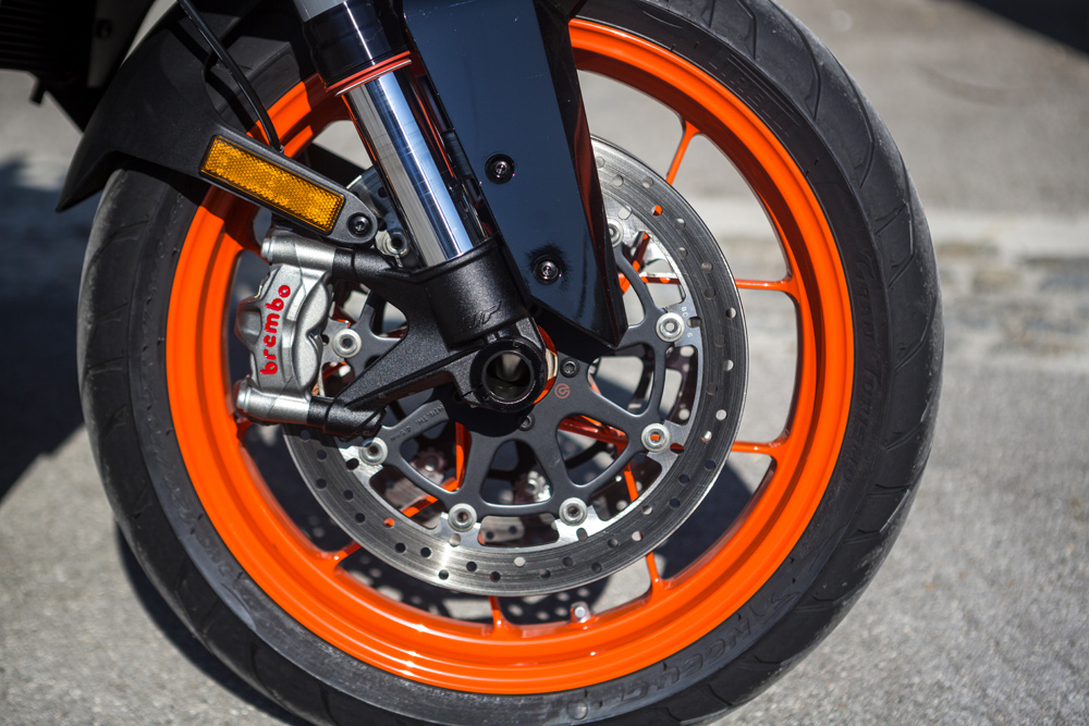 Braking package is taken straight from the 1290 Super Duke R.