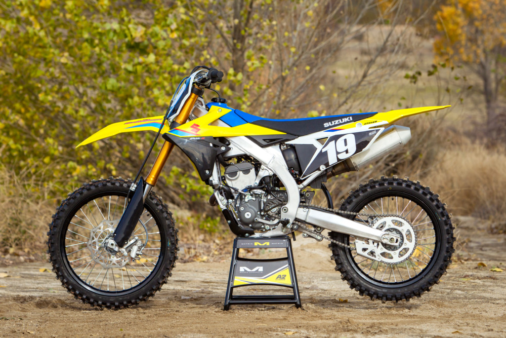 Basically, the 2019 RM-Z250 got a ground up restoration, which includes trashing the previous air forks for new coil-spring forks.