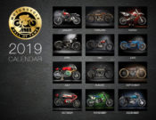 2019 AMA Motorcycle Hall of Fame Wall Calendar
