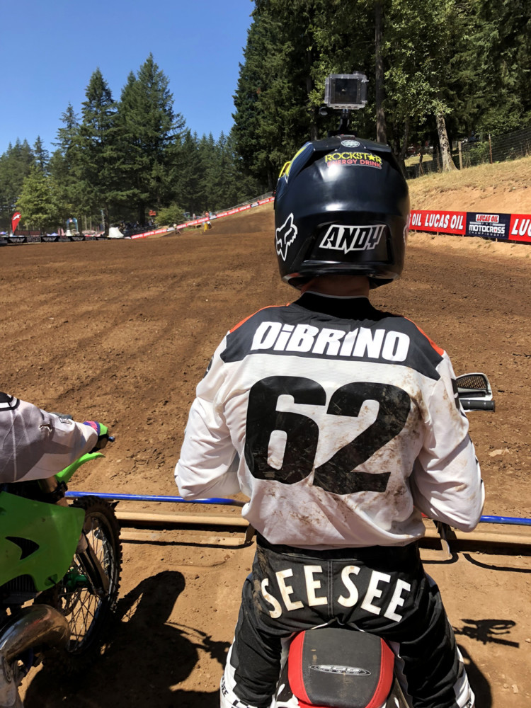 Staring down the start at Washougal, 2017.
