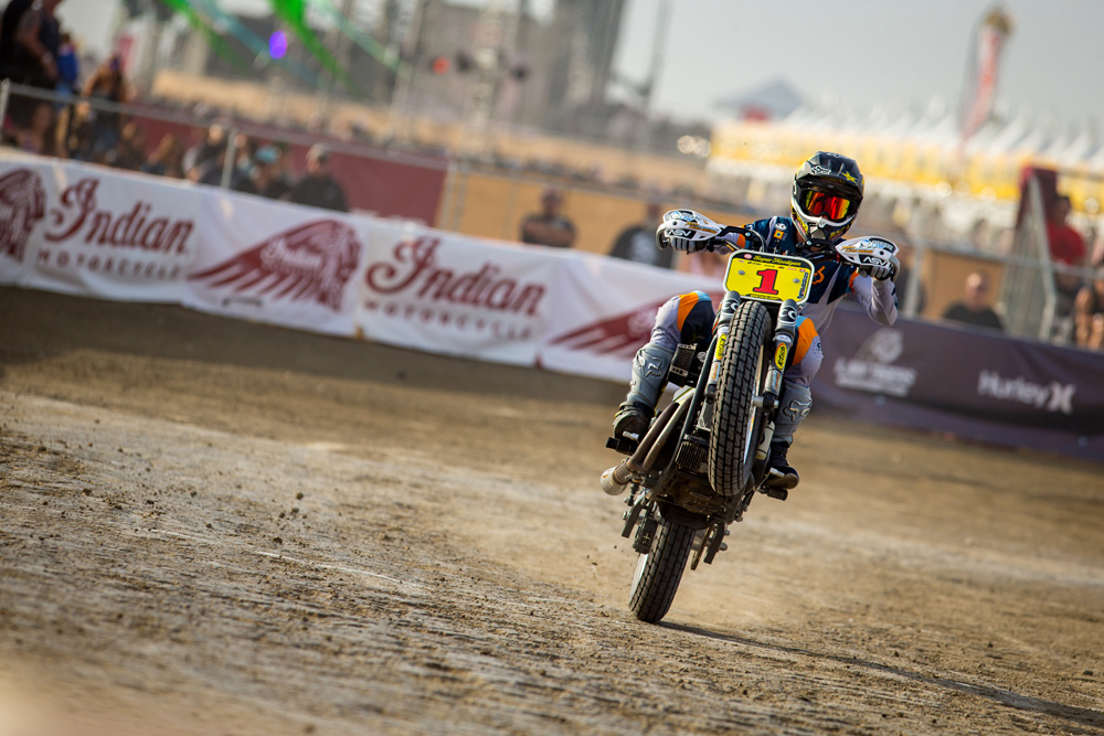 DiBrino's XG750 is a weapon, and he uses it to good effect in the Super Hooligan Championship.