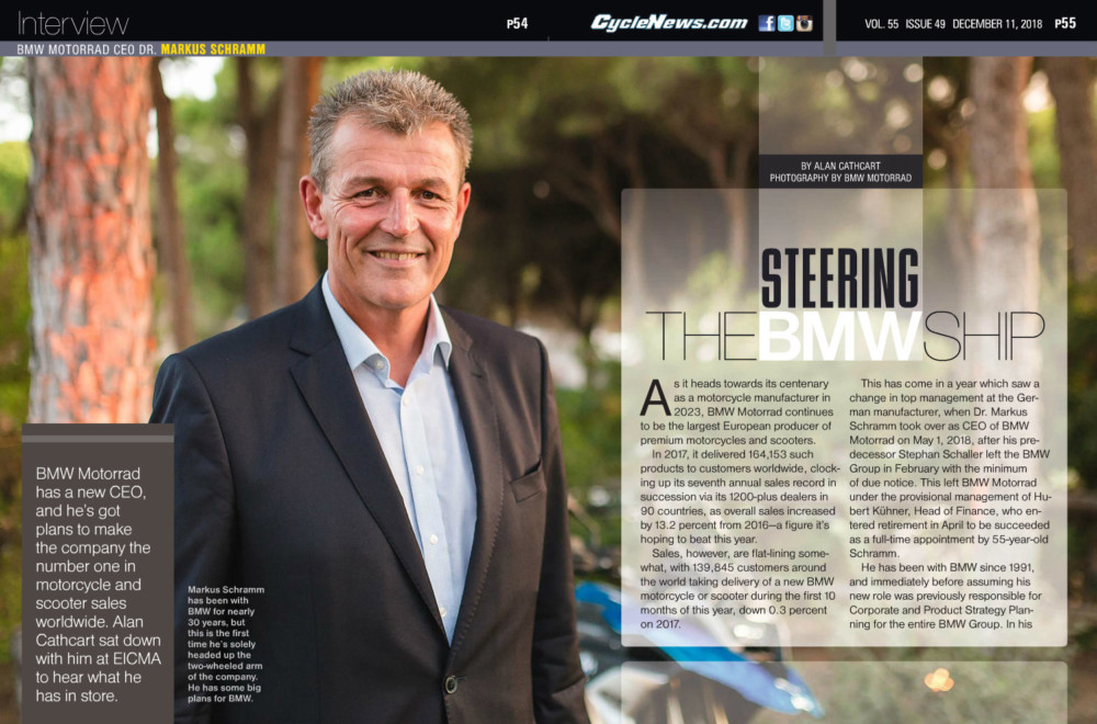 BMW's got a new CEO, and he's got plans to make the company the number one in motorcycle and scooter sales worldwide. Alan Cathcart sat down with him at EICMA to hear what he has in store