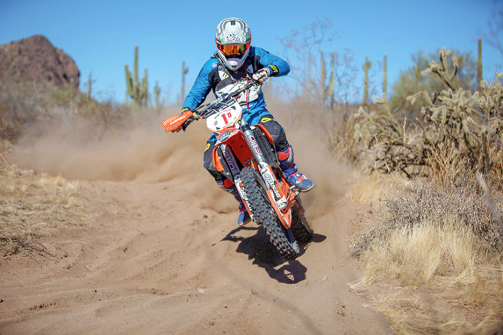 2018 U.S. ISDE Club Team rider Destry Abbott competing at Round One of the 2018 AMA International Six Days Enduro West Qualifier Series in Wickenburg, AZ. Photo by MJS Motophotos
