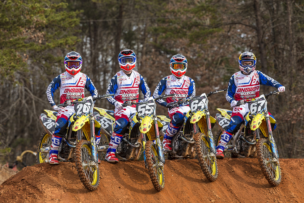 Answer Racing and JGR/Yoshimura/Suzuki 250 Factory Team