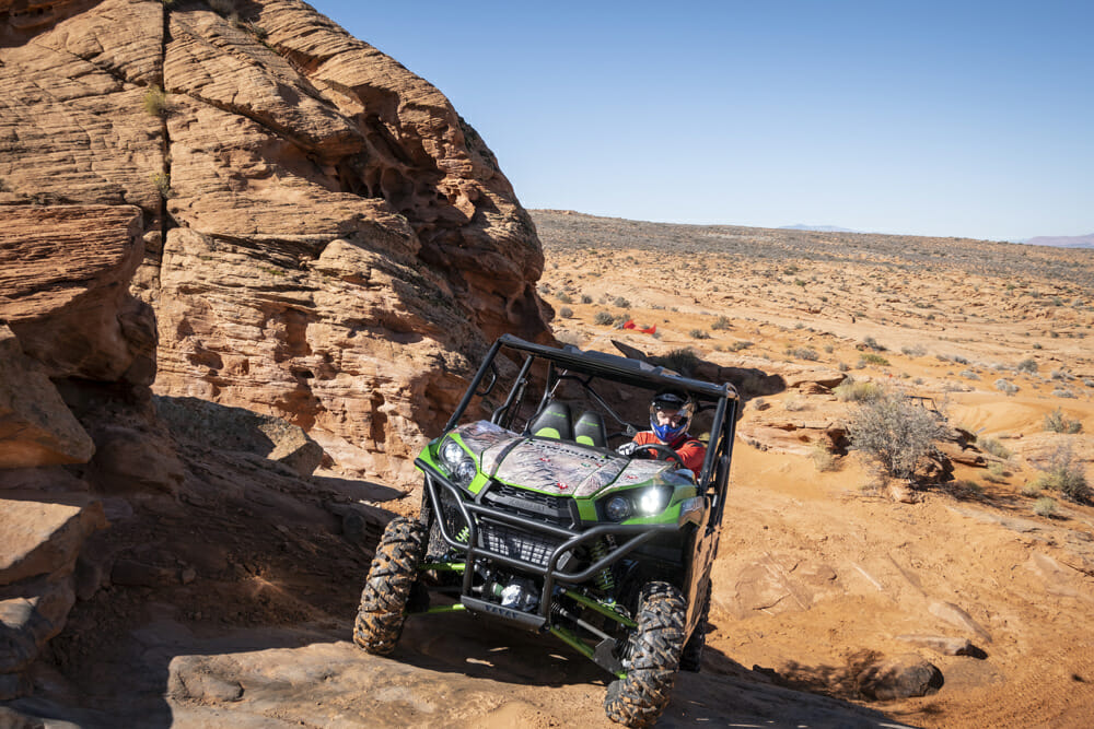 The Teryx4 will get up some stuff you'll simply shake your head at.